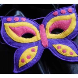 Masque enfants Papillon violet en feutrine et fait main