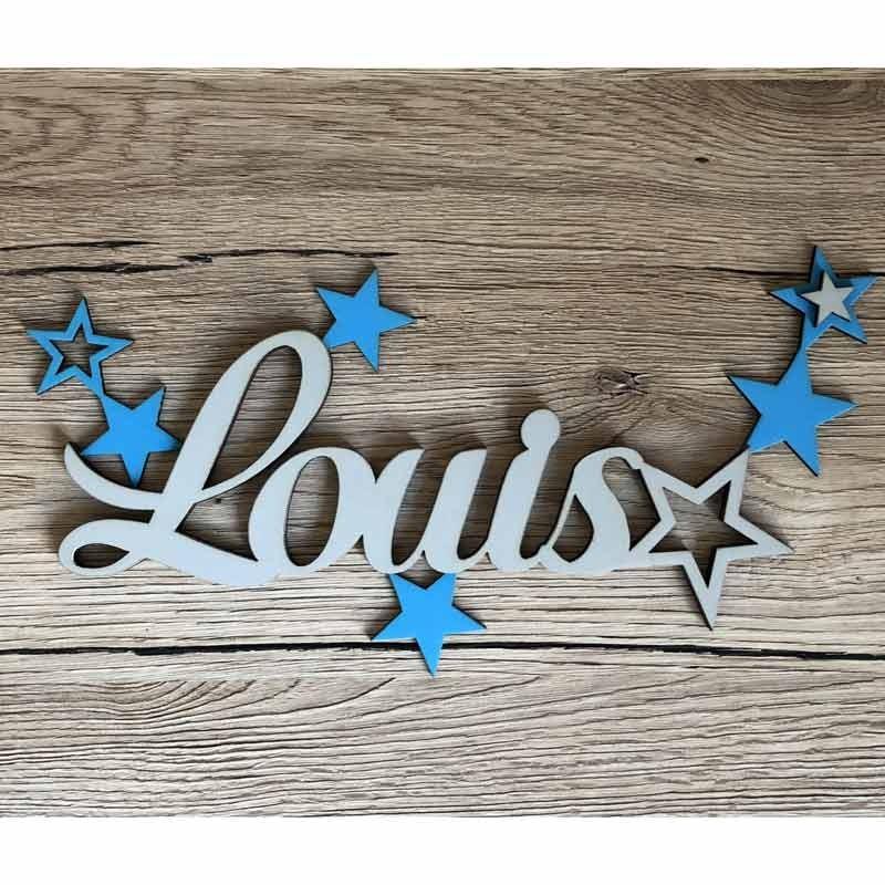 Plaque de porte en bois personnalis e pr nom avec toiles fabriqu e de fa on artisanale en france - Plaque de porte prenom ...