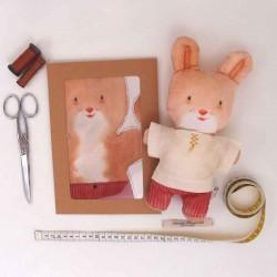 Kit créatif couture poupée doudou lapin Hector diy enfants
