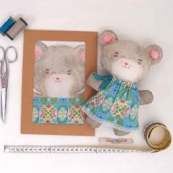 Kit créatif couture poupée doudou souris Emilie diy enfants
