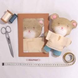 Kit créatif couture poupée doudou souris Prosper diy enfants
