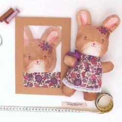Kit créatif couture poupée doudou lapine Camille diy enfants