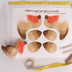 Oiseau rouge-gorge à coudre pour enfants
