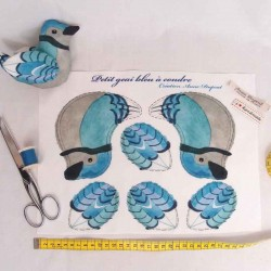 Oiseau geai bleu à coudre pour enfants