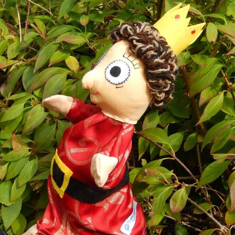 Marionnette à gaine pour enfants en tissu Prince