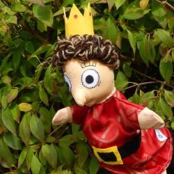 Marionnette à main Prince faite main en France