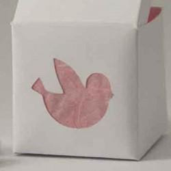 Boîte à dragées personnalisée dessin grand oiseau