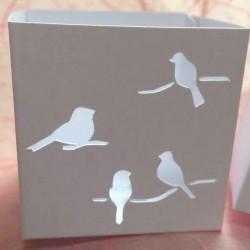 Boîte à dragées personnalisée dessin oiseaux