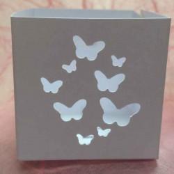 Boîte à dragées personnalisée dessin papillons
