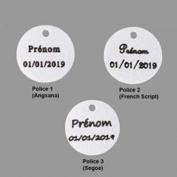 Contenant à dragées personnalisé polices d'écriture des étiquettes