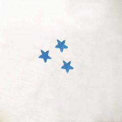 Etole de baptême brodée avec motif étoiles pour bébés faite main