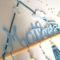 Tipi Tricotin bleu pour déco murale de chambre d'enfant