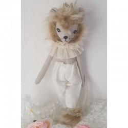 Poupée en tissus artisanale lion