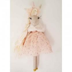 Poupée licorne avec robe made in France