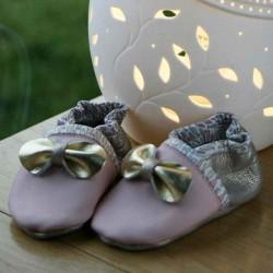 Chaussons bébé fille de qualité fabrication artisanale française