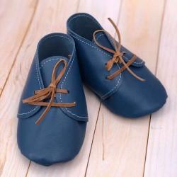 Chaussons bébé en cuir à lacets personnalisables