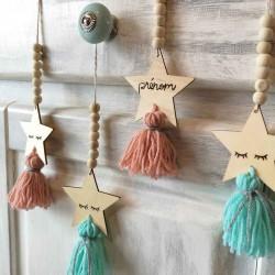 Petite suspension guirlande de perles avec personnalisation