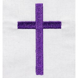 Etole de baptême brodée avec motif croix pour bébés faite main