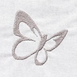 Etole de baptême brodée avec motif papillon pour bébés faite main