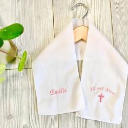 Echarpe de baptême blanche personnalisée pour enfants