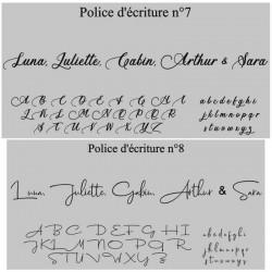 Polices du prénom en bois personnalisé