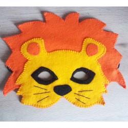 Masque Lion en tissu feutrine fait main