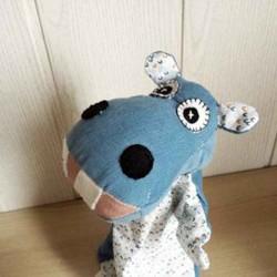 Marionnette à main Hippopotame faite main en France