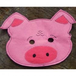 Masque de déguisement Cochon en feutrine