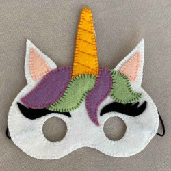 Masque de déguisement Licorne en feutrine