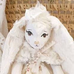 Poupée artisanale Lapine faite main en France