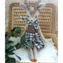 Poupée de décoration Cerf fabriquée main en France
