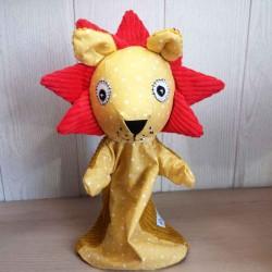 Marionnette à main Lion faite main en France