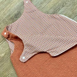 Gigoteuse fille broderie anglaise terracotta