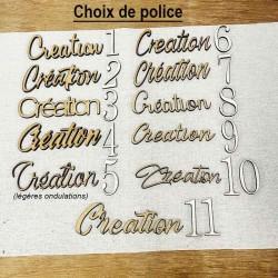 Choix des polices