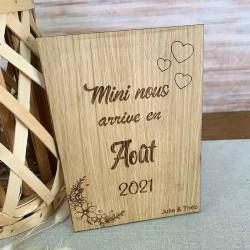 Pancarte Annonce grossesse en bois personnalisée