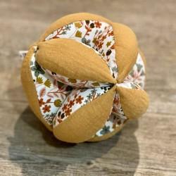 Balle de préhension Montessori tissu fleurs
