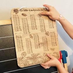 Tables de multiplication personnalisées en bois