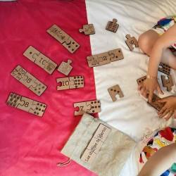 Puzzle éducatif Associations Chiffres en bois personnalisé